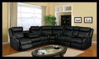 Cshape sectional black bonded leather District Heights, 20747