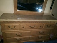 Bedroom set Dresser with mirror,night stand, dressing chest, bed Moore, 73160