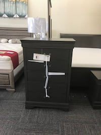 Brand new Tallboy Chest Dresser With 5 Drawers. In grey color Chesapeake, 23322