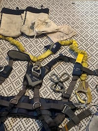 Exo Fit Nex climbing harness with saddle and lanyards. Atlanta, 30309