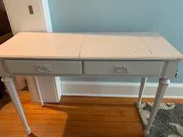 Small writing desk, white, 2 drawers