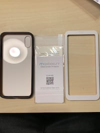 iPhone X/iPhone XS case and screen protector (tempered glass) Chicago, 60630
