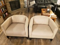 Two Cream Accent Chairs Denver