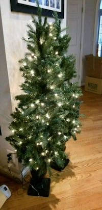 2 large lighted porch trees - Christmas or Holiday Burke
