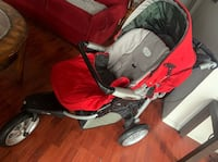 peg-perego Italian stroller, never used. In the colour red and black   Toronto, M6M 2J4