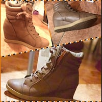 wedge lace-up leather boot  Edmonton