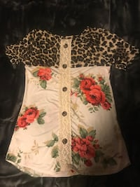 Leopard and floral print Boutique Shirt  New York, 10312