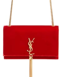 BRAND NEW* Never been used Red Tassel YSL clutch. 223 mi