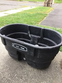 Black and gray metal container-trough- Milford, 06461