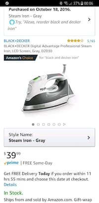 white and gray Tefal clothes iron screenshot Tucson, 85719