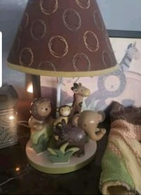 Lamb and Ivy Safari Lamp,valances and Frame all for 40 dollars