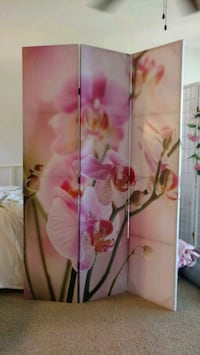 New 6' tall 2 sided floral room divider Fort Myers, 33901