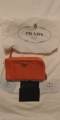 Brand New Prada Change Purse Clutch - Orange