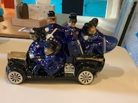blue and silver touring motorcycle scale model Long Beach, 90803