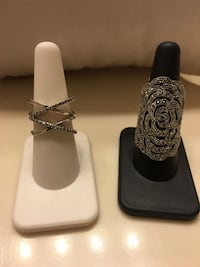 Sterling silver rings large rose sz9 $40 the other one sz8 $20 El Paso, 79901