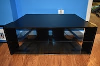 black wooden framed glass top TV stand Linganore, 21774