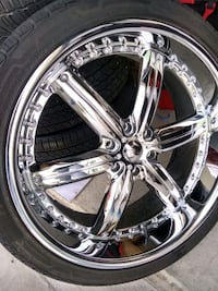 24' rims and tires 6 lugs Mission, 78572