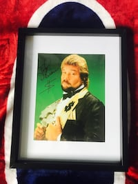 WWF Ted Dibiase signed and framed photo