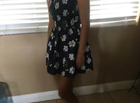 women's white and black floral sleeveless mini dress Bakersfield, 93309