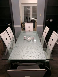 Steel and Glass Table with leather chairs  Fairfax County, 22030
