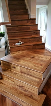 brown wooden staircase Gaithersburg, 20878