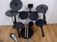 black and gray electric drum set Little Elm, 75068