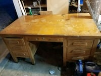 Large solid wood desk Modesto, 62667