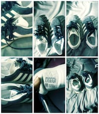 white and black Adidas low top sneakers Brea, 92821