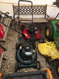 black and red push mower GLADWIN