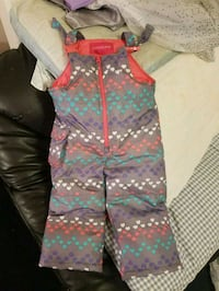 toddler's green and red floral overall pants 1660 mi