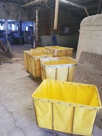 Yellow laundry carts Brownwood