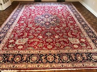 Authentic hand made Persian Kashan wool rug Mississauga, L5M 2C6