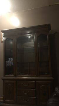 Brown wooden framed glass cabinet Massillon, 44647