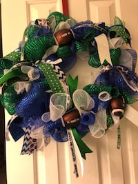 Sport/cheer Wreaths- made to order with your school or favorite team colors Lorton, 22079