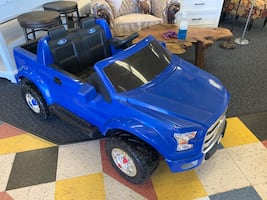 New 12v Blue Ford F-150 Electric Power Wheel w/ Charger