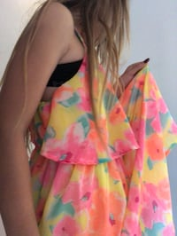 pink and yellow floral dress Barrie, L4N