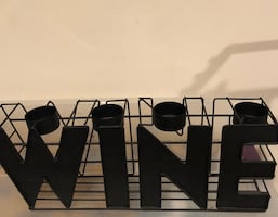 WINE metal real light candle holder