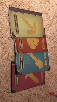 4 Minecraft books some books are a little dent as you can see Salinas