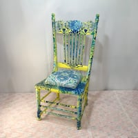 Gorgeous Vintage Upcycled hand painted chair adult