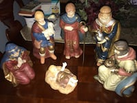 Ceramic Christmas nativity people  Saint Louis, 63123