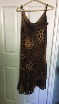 women's brown and black leopard print sleeveless dress Laval, H7G 2Z8