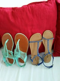 three pairs of assorted sandals Washington, 20001