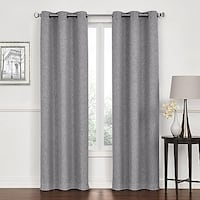 Lawson 84-Inch Grommet Top Room Darkening Window Curtain Panel Pair -Finely woven loom adds soft texture -Room darkening, noise-reducing and insulating -100% polyester -Machine wash -Grommet top panel Garland