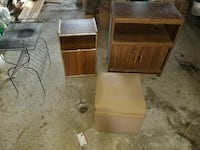 Cabinets, storage ottoman and metal table  Brant, N0E 1R0