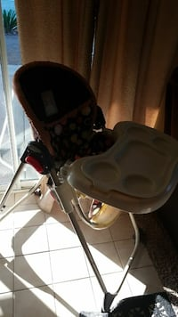 baby's brown high chair