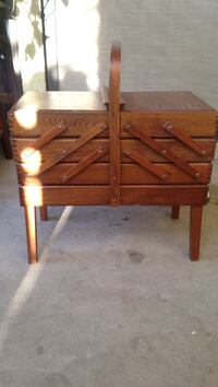 two brown wooden side tables Las Vegas, 89121