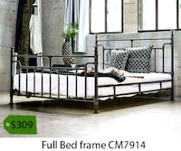black metal bed frame with text overlay 2261 mi