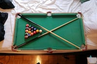 green and brown billiard table Toronto, M6L 1C6
