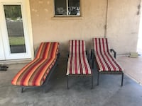 two red-and-white stripe padded armchairs Santa Ana, 92707