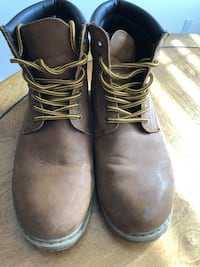 Pull&Bear brown leather boots- 9.5 (Euro 43)